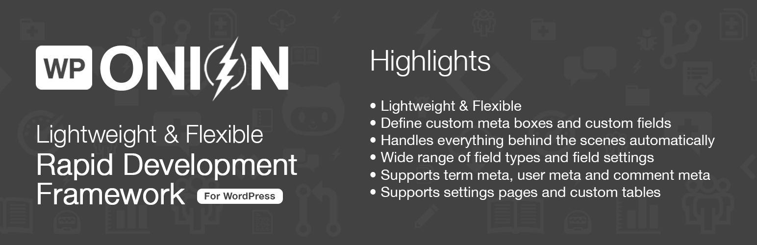 WPOnion Framework Screenshot